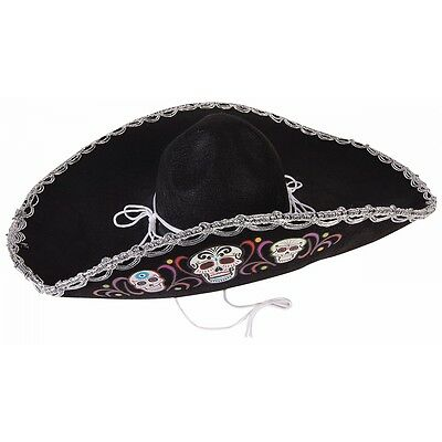 Day of The Dead Sombrero Costume Accessory Adult Cinco de Mayo