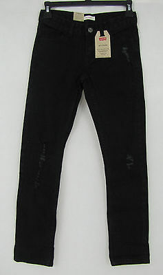 Levis jeans girls boyfriend Distressed adjustable waistband size 10 NEW