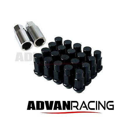 M12 x 1.50 Aluminum Lug Nuts Set W/ Lock, 55 grams, Closed End, BLACK, MITSUBIS