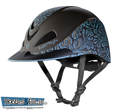 Troxel New Fallon Taylor Turq Floral Safety Riding Helmet Low Profile Horse