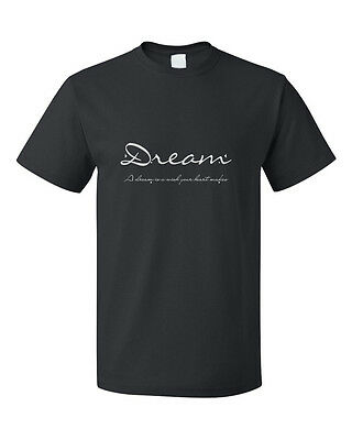 Dream A Dream Is A Wish Your Heart Makes Cotton Unisex T-Shirt Tee Top