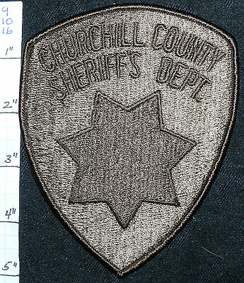 Nevada, Churchill County Sheriff's Dept Subdued Patch