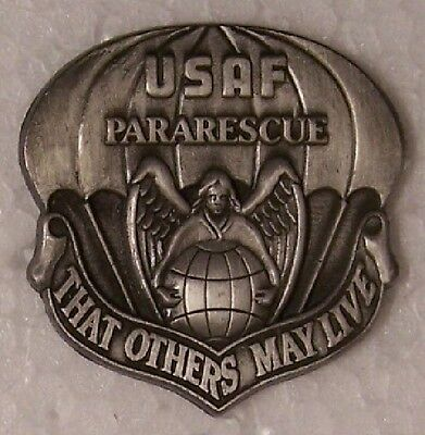 Large Hat Pin Air Force Pararescue That Others May Live Jacket Epaulet NEW