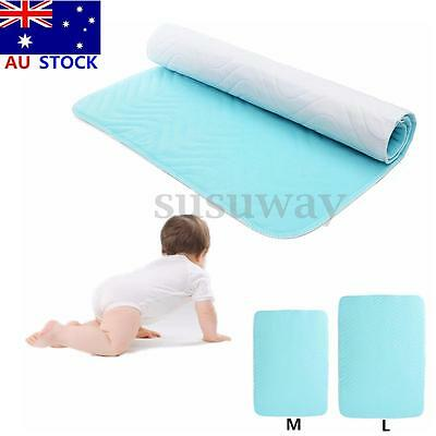 Absorbent Washable Reusable Incontinent Underpad Baby Infant Bed Urine Pad AU