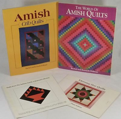 Four Books/Pamphlets about Antique Quilts - Amish, Indiana, & American Indian