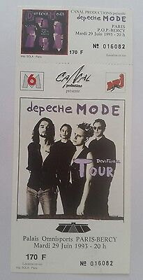DEPECHE MODE DEVOTIONAL TOUR Paris Bercy RARE complete Ticket 29 JUNE 1993