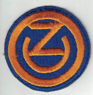 WWII US Army 102nd Infantry Division SSI Patch Cut Edge Original 'OZARK'