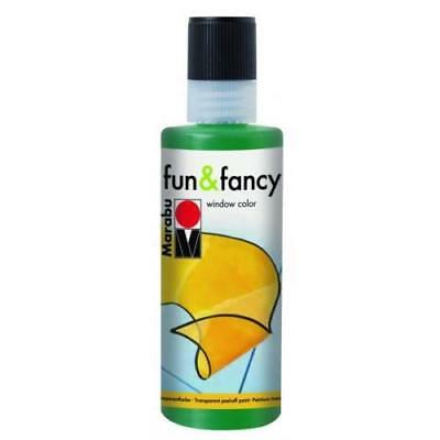 Marabu Window Color fun & fancy Fenstermalfarbe 80ml 075 TANNENGRÜN abziehbar