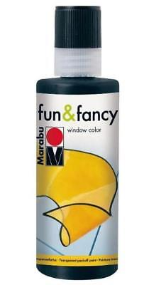 Marabu Window Color fun & fancy Fenstermalfarbe 80ml SCHWARZ abziehbar