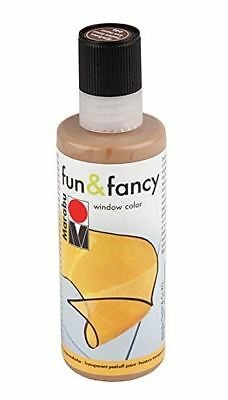 Marabu Window Color fun & fancy Fenstermalfarbe 80ml MITTELBRAUN 046 abziehbar