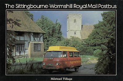 (97689) Postcard Sittingbourne Wormshill Royal Mail Bus SEPR5 1980