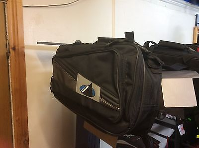 OXFORD panniers - Black Rock Luggage Panniers Black 48L Expanding Motorcycle Bag