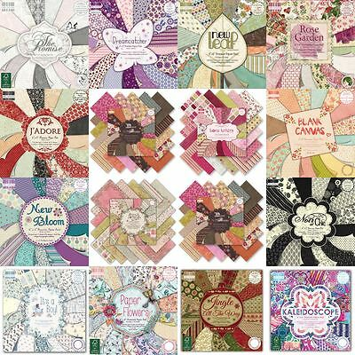 SALE! Designer Collection Patterned Paper + Cardstock Scrapbook Packs + Pads