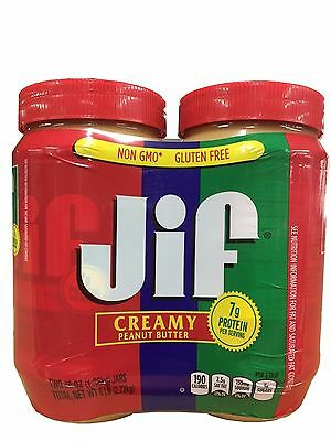 Jif Creamy Peanut Butter Twin Pack ~ Two 48 oz Jars 6LB