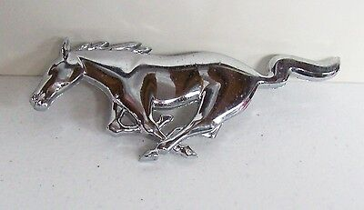 Vintage Ford MUSTANG Grille Chrome Emblem Ornament
