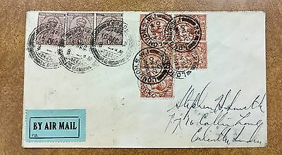 1927 London to CALCUTTA To STEPHEN SMITH returned to Roessler in NJ air mail