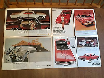 Vintage Print Ad - 1966 Chevrolet Ad Lot - 1960's Advertising - Large