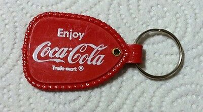 Vintage Red Enjoy Coca Cola Coke Key Ring