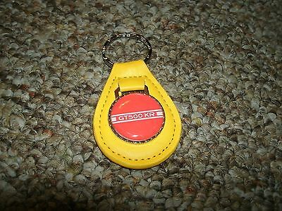 1968 2008 Shelby Gt500Kr King Of The Road Stripe Logo Keychain New Yellow