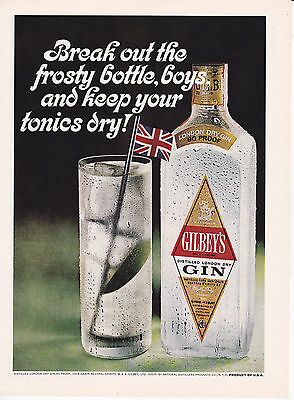Original Print Ad-1967 Break out the frosty bottle boys & keep your tonics dry!