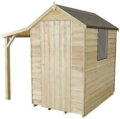 Forest Overlap Apex 4 x 6ft Shed with Lean-to -From the Argos Shop on ebay