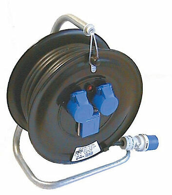 Fme 14.662 extension cable reel 30ml 2 sockets 16A+T 220V bypass schuko
