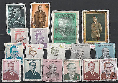 Turkey Mix canceled Postage Stamps Stamps Los Right 2578