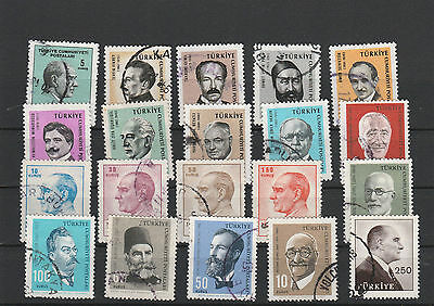 Turkey Mix canceled Postage Stamps Stamps Los Right 2576