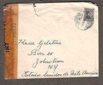 Uruguay WWII 2 censors cover 1967 & 50332 Montevideo Clasificacion cancel to NY