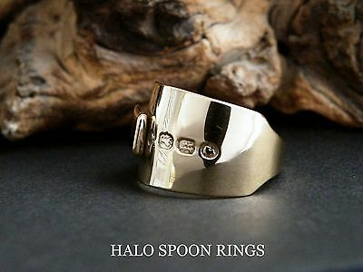 Victorian Sterling Silver Spoon Ring Coated In A Generous Layer Of 18 Carat Gold