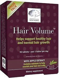 New Nordic Hair Volume Tablets, 90 Count