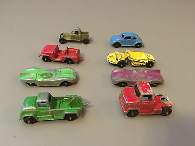 toy cars and trucks. Vintage Lot Of 8 Tootsie Toy Chicago Cars And Trucks VW Beetle Construction