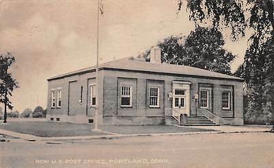 PORTLAND, CT ~ U.S. POST OFFICE ~ COLLOTYPE CO. PUB ~ used c.1950s