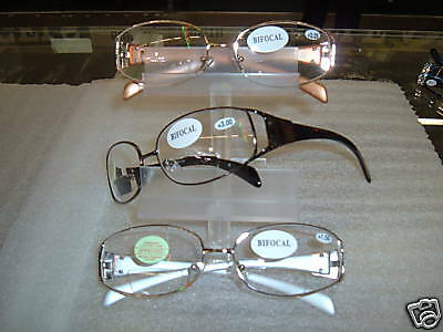 1 pr   ELEGANT LADIES BIFOCAL CLEAR READING GLASSES