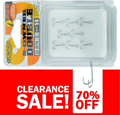 70% OFF Owner SD-26TN Double Hooks - Size 14