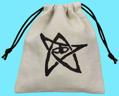 Q-Workshop CALL OF CTHULHU DICE BAG Beige Linen Storage Pouch BCTH102 BCTH101