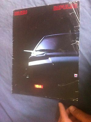 1984 Isuzu Impulse Piazza USA Market  Brochure Catalog Prospekt