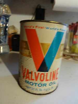 Valvoline Heavy Duty Motor Oil Can Used Empty
