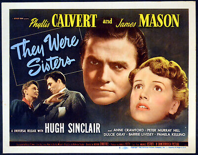 THEY WERE SISTERS 1945 James Mason, Phyllis Calvert Dulcie Gray TITLE LOBBY CARD