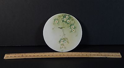 Vintage Signed Japanese or Chinese Porcelain Round Plaque Small Size