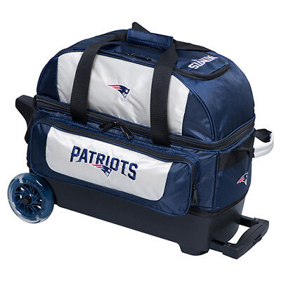 KR Strikeforce NFL New England Patriots 2 Ball Roller Bowling Bag