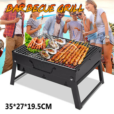 Outdoor Portable Folding BBQ Grill Charcoal Barbecue Picnic Camping Meat Cooking
