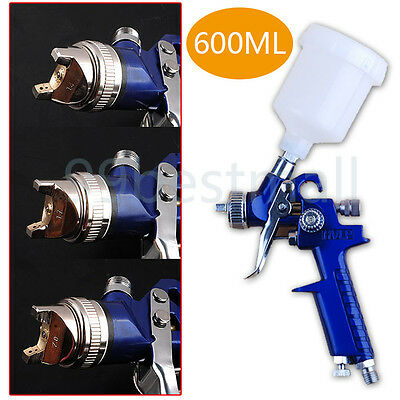 Spray Gun Kit HVLP Gravity Feed Vehicle Car Paint 600CC 1.4MM 1.7MM 2.0MM Nozzle