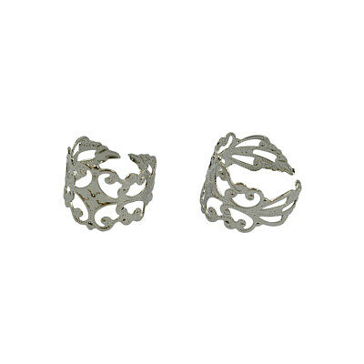 Filigree Ring Blanks Adjustable Ring Base With 8 mm Pad 1//5//10//20 pack size