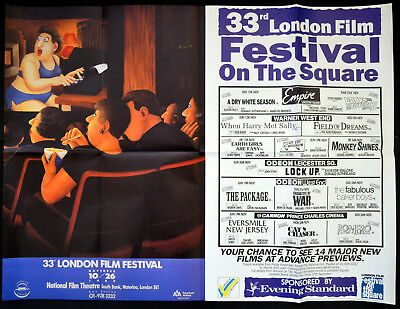 33Rd London Film Festival 1989 Beryl Cook Uk Quad Poster