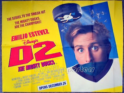 D2: THE MIGHTY DUCKS 1995 Emilio Estevez, Kathryn Erbe, Michael Tucker  UK QUAD