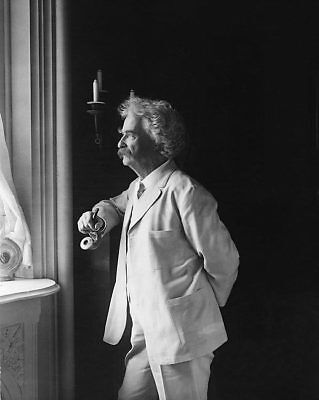 SAMUEL MARK TWAIN CLEMENS PORTRAIT 8x10 SILVER HALIDE PHOTO PRINT