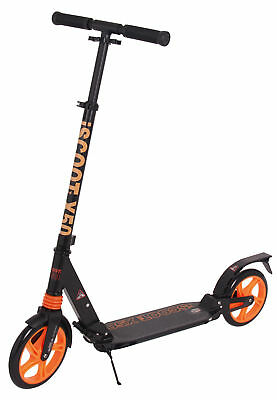 Adult iScoot X50 City Suspension Push Kick Scooter Folding Large 200mm - Black