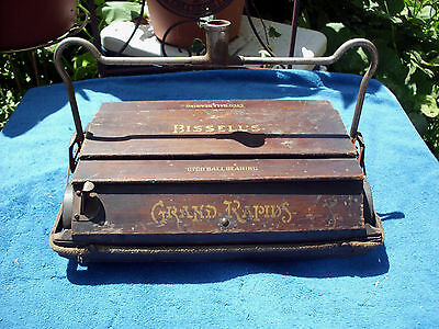 Antique Bissell's Cyco Ball Bearing Hand Push Vacuum Grand Rapids Mich Bissell