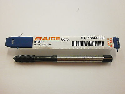 EMUGE M6 x 1.0 Spiral Point MULTI-TAP 6H High Performance Germany B15773000060
